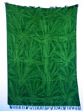 Sarong - Batik - Ton in Ton - grün - Material: Rayon - ca. 1,10m x 1,7m, Artikelnummer: 73019_4