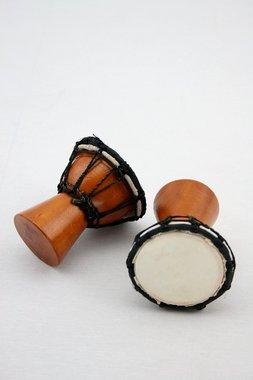 Shaker - Djembe - Holz/Ziegenfell - handgefertigt - Höhe 8cm/D6cm - hervorragender Klang - AKTIONSPREIS, Artikelnummer: sha15