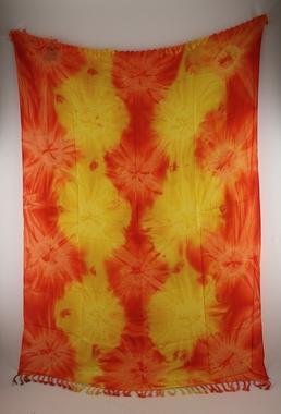 Sarong - Batik abstrakt - orange/gelb - Material: Rayon - ca. 1,10m x 1,7m, Artikelnummer: 73012e