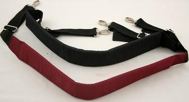 Tragegurt Hüfte - Nylon - stark gepolstert - Farbe schwarz - Länge verstellbar von 106cm bis 145cm, Artikelnummer: djgu04