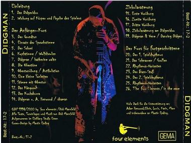 Audio CD - Didgman 1 - Der Didgeridoo-Kurs für Anfänger - mehr als 40.000 zufriedene Kunden!, Artikelnummer: cdd01