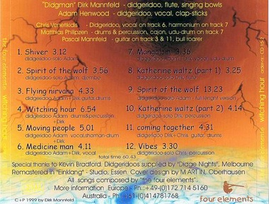 Download MP3 Datei inkl. Cover zum Ausdruck - THE FOUR ELEMENTS - witching hour - die Kult CD nur als Download, Artikelnummer: down03