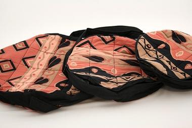 Tasche für Rahmentrommel+Ocean Drum - D43cm + 53cm - Baumwolle batik sun, Artikelnummer: bag06