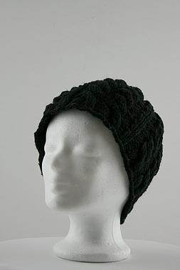 Wollmütze mit Zopfmuster - 100% Schafswolle - handgestrickt, Artikelnummer: 41028