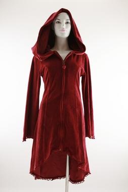 Exklusiver Mantel aus Baumwoll Samt mit Arwenkapuze, Artikelnummer: 32025