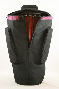 Djembetasche Nylon wasserdicht <br> Höhe 62cm/D37cm + 65cm/D40cm - senkrechter Reissverschluss - mit Bauchgurt, Artikelnummer: bag14