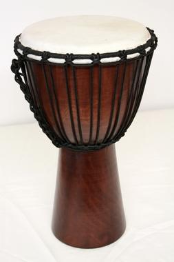 Djembe Original African Style - Höhe 50cm - sehr grosse Spielfläche Fell 25cm, Artikelnummer: dj01_5_braun