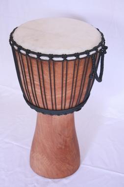 Djembe Original African Style - Höhe 60cm - reine Spielfläche Fell 27cm + 29cm - natur geölt, Artikelnummer: dj01_7_1