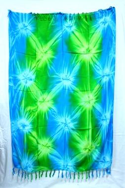 Sarong - Batik abstrakt - türkis/grün - Material: Rayon - ca. 1,10m x 1,7m, Artikelnummer: 73012o