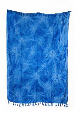 Sarong - Batik - Ton in Ton - blau - Material: Rayon - ca. 1,10m x 1,7m, Artikelnummer: 73019_7