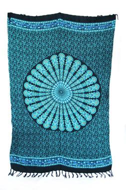 Sarong - Batik Mandala türkis - Material: Rayon - ca. 1,10m x 1,7m, Artikelnummer: 73011b