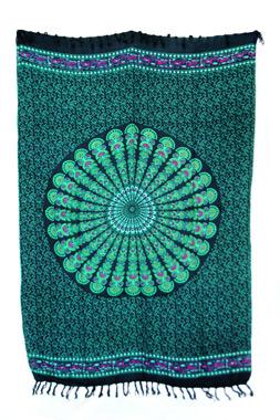 Sarong - Batik Mandala smaragd - Material: Rayon - ca. 1,10m x 1,7m, Artikelnummer: 73011f