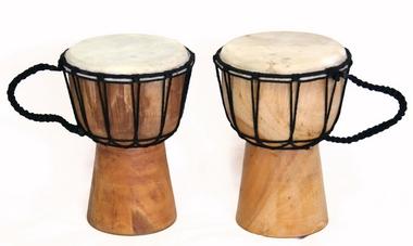 Trommel für Kinder - Djembe/africa - Höhe 25cm- Durchmesser Fell 13-14cm, Artikelnummer: dj01_1