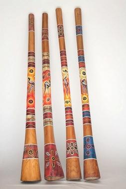 Set Angebot - Didgeridoo Jackfruit bemalt 1,3m + 1,5m + Lern CDs Didgman 1 + 2 + Tasche, Artikelnummer: set03a-ali