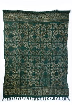 Sarong - exklusiver Batik Druck - Jana grün - Material: Rayon 1. Wahl - ca. 1,10m x 1,7m, Artikelnummer: 73057a