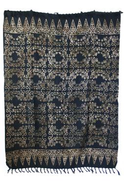 Sarong - exklusiver Batik Druck - Jana schwarz - Material: Rayon 1. Wahl - ca. 1,10m x 1,7m, Artikelnummer: 73057c