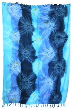 Sarong - Batik abstrakt - türkis/blau - Material: Rayon - ca. 1,10m x 1,7m, Artikelnummer: 73012p