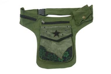 Gürtel- oder Hüfttasche - Farbe: grün/schwarz, Artikelnummer: 44015b