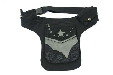 Gürtel- oder Hüfttasche - Farbe: schwarz/grau, Artikelnummer: 44015a