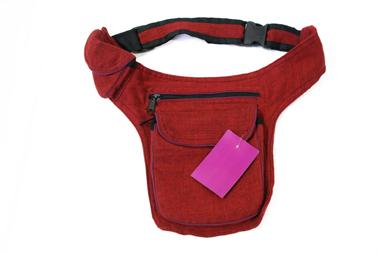 Gürtel- oder Hüfttasche - Baumwolle - Farbe: maron, Artikelnummer: 44024