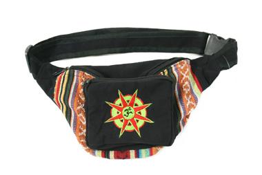 Gürtel/ Hüfttasche - Baumwolle mit Om Stickerei, Artikelnummer: 44004