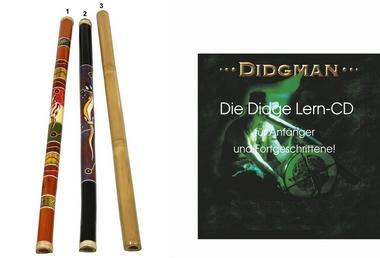 Set Angebot - Bambus Didgeridoo + Lern CD Didgman 1, Artikelnummer: set01